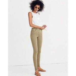 """Madewell 9"""" High Riser Skinny Jeans Dyed Edition"""